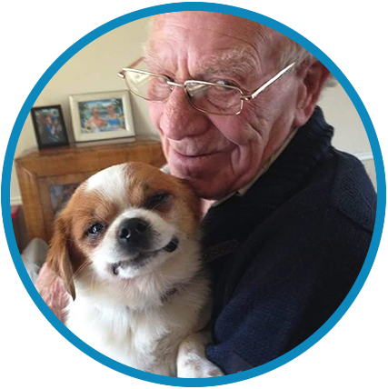 Give a Dog a Bone…and an animal a home is a young, unique and award winning charity, supporting the over 60s to afford a rescue pet companion.