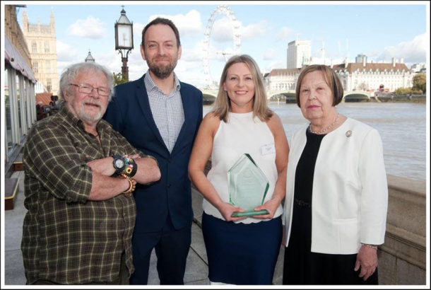 The Charity's founder, Louise Russell, has won the International Fund for Animal Welfare's 2016 'Community Award' for her work with rescue animals and the over 60s.
