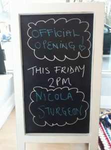 Nicola Sturgeon will officially open our new community space this Friday!